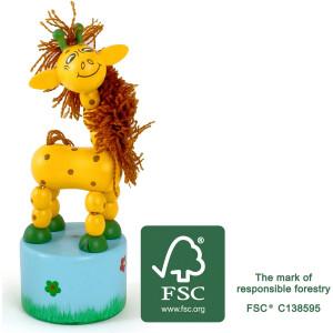 11134 legler small foot Druecktier Giraffe FSC - HTUK Gifts