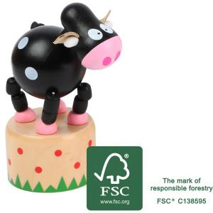11154 legler small foot druecktier Kuh FSC 1 - HTUK Gifts