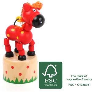 11155 legler small foot druecktier Pferd FSC - HTUK Gifts