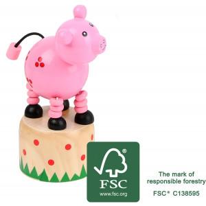 11156 legler small foot druecktier Schwein FSC - HTUK Gifts