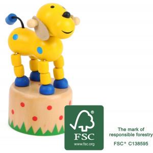 11157 legler small foot druecktier Hund FSC - HTUK Gifts