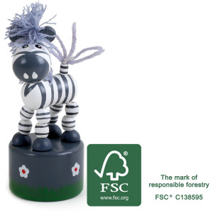 11198 legler small foot Druecktier Zebra FSC - HTUK Gifts