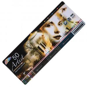 45 Artist Assorted Pencils Tin Box Set 01111 - HTUK Gifts