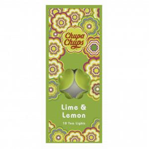 Chupa Chups 10pk Tea Lights Lime Lemon 45329 - HTUK Gifts