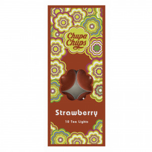 Chupa Chups 10pk Tea Lights Strawberry 45460 - HTUK Gifts