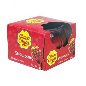 Chupa Chups 3oz Candle Strawberry 4Asst 45355 Pic 1 - HTUK Gifts