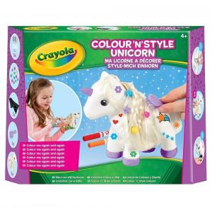 Crayola Colour n Style Unicorn Craft Kit with Washable Felt Tip Colouring Pens 11 - HTUK Gifts