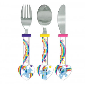 My Little Pony 3 Piece Multi Colour Cutlery Set 111 - HTUK Gifts