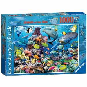 Ravensburger Jewels of the Sea 1000 Piece Jigsaw Puzzle 111 - HTUK Gifts