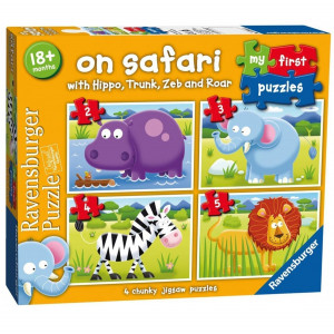 Ravensburger My First Puzzle On Safari 2 3 4 5 Piece Jigsaw Puzzles 444 - HTUK Gifts