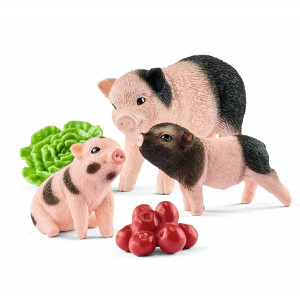 Schleich 42422 Miniature Pig Mother and Piglets 22 - HTUK Gifts