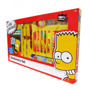 Simpsons Stationery Set 3330000 - HTUK Gifts