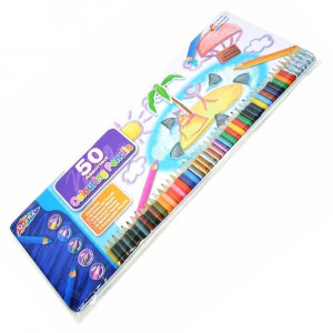Tin Of 50 Colour Drawing Sketching 33391 - HTUK Gifts