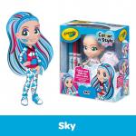 Doll Squares-Sky