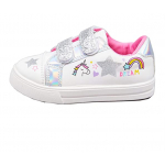 Girls Canvas Pumps Unicorn Lowtop Trainers