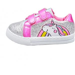 Girls Canvas Pumps Unicorn Silver Glitter - HTUK Gifts